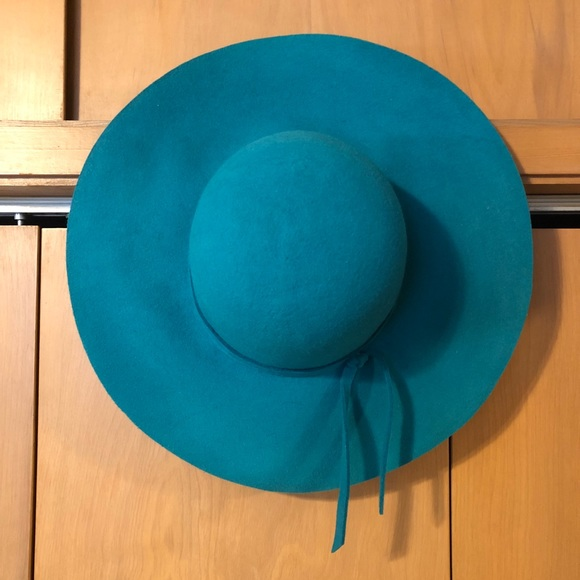 cc3e0ab8400 Accessories - 100% Wool Teal Floppy Hat